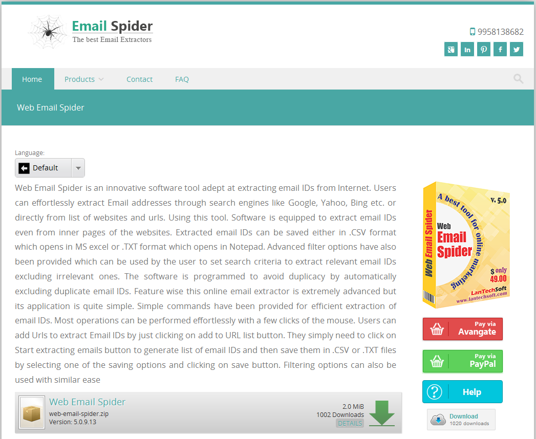 Web Email Spider